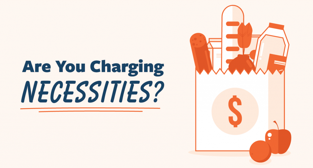 charging necessities to credit card