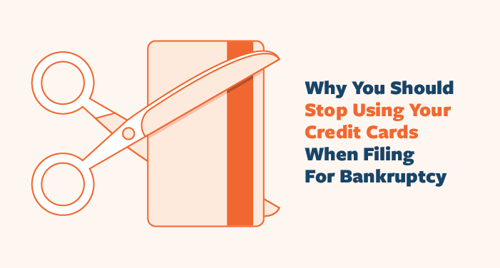 stop using credit cards during bankruptcy